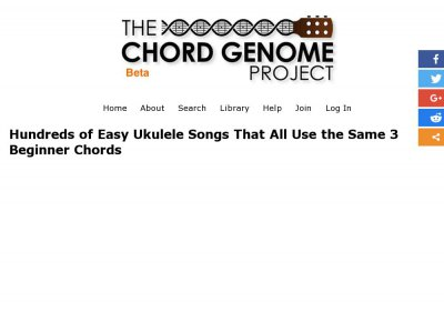 Top Ukulele Sites - Stats - The Ultimate List of Easy Ukulele Songs
