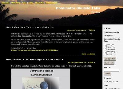 Top Ukulele Sites - Stats - Dominator Ukulele Tabs